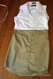 diy chambray mens shirt dress sewing upcycled clothes