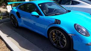 miami blue porsche gt3 rs 176 000 2017 porsche gt3 rs 0 60 3 1 sec 500 hp youtube