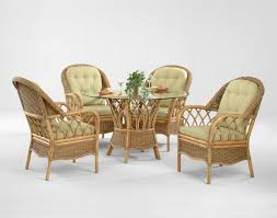 braxton culler everglade tropical five piece rattan dining set