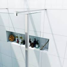 luxury 8mm freestanding single panel wet room pack with tray and