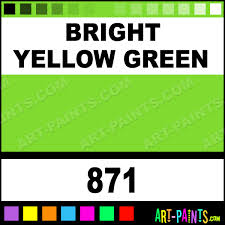 bright yellow green student oil paints 871 bright yellow green