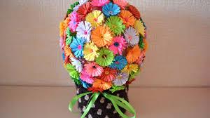 bouquet diy how to make a fun paper flower bouquet diy crafts tutorial