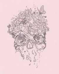 ssckull girly skull pencil and in color ssckull