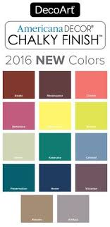 Americana Decor Chalky Finish Paint Color Selection Updated 2016