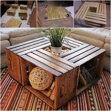 how to make a coffee table out of pallets how to make a coffee table out of old wine crates pictures photos