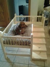 Hand Made Bunk Beds by Wooden Handmade Dog Cot Bed Daschund Westie Yorkshire Terrier