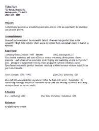 Marketing Professional Resume Marketing Manager Resume Sections Skills Objective Summary