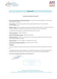 offre cuisine appel d offres équipement cuisine lycée français josué hoffet