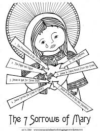 the seven sorrows of feast day 150 enchanting heart coloring page