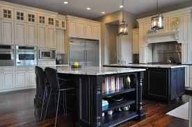 Double Island Kitchen by Wonderful White Kitchen Black Island With 1 Intended Decor