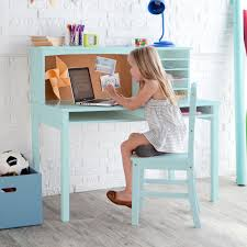 Vintage Desk With Hutch by Guidecraft Media Desk U0026 Chair Set Teal Hayneedle
