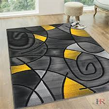 Modern Yellow Rug Modern Hr Yellow And Grey Modern Abstract Contemporary Circle