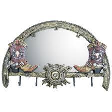 mirror u0026 coat rack resin cowboy boots wagon wheel country