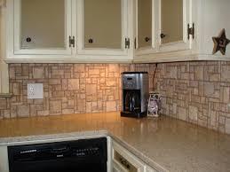 natural kitchen decor with captivating stone backsplash design half kitchen decor using white marble countertop also white accent stone backsplash also wall mount kitchen