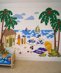 elephants on the wall beach scene paint by number wall mural kit beach scene paint by number wall mural kit