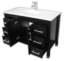 Porcelain Bathroom Vanity 48 Wood Porcelain Basin Sink Bathroom Vanity Set