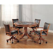 Poker Table Chairs With Casters Home Chair Decoration - Dining room chairs with rollers