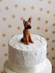 german shepherd alsatian cake topper dog wedding cake