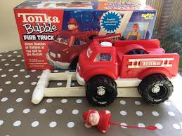 tonka fire rescue truck vintage tonka koosh bubble fire truck push along bubble blower new