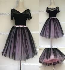 2018 two tone black and pink fluffy tutu skirt for ballet