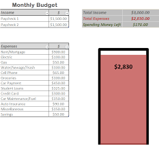 Microsoft Excel Monthly Budget Template Personal Monthly Budget Template For Excel Fred Pryor Seminars