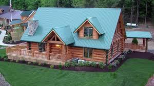 log home design plan and kits for indian lake