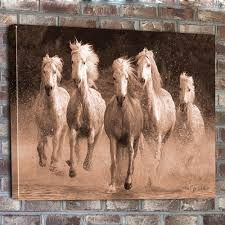 horse canvas wall art beautiful wall art decor on bathroom wall
