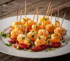 canapes with prawns prawn chorizo canapes countrywives