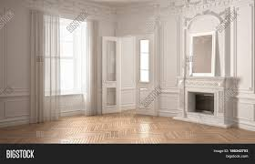 Classic White Interior Design Classic Empty Room Big Window Image U0026 Photo Bigstock