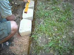 building a concrete block retention wall youtube