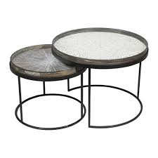 buy notre monde round nesting tray table set amara round nesting tray table set