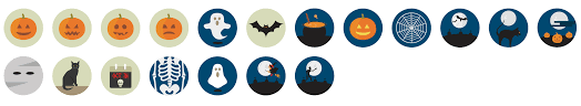 Halloween Icons Free 2500 Flat Icons Vector Set Royalty Free