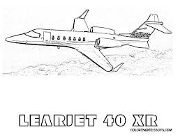 cool cool learjet 40 xr airplane coloring print