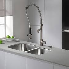 Kitchen Pull Down Faucet Reviews Kraus Kpf 1602 Ksd 30ss Single Handle Pull Down Kitchen Faucet