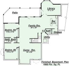 one story house plans with basement house plans magnificent one story house plans with finished