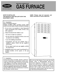 carrier weathermaker 8000 operating instructions