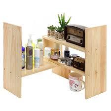 Desk Storage Organizers Adjustable Wood Desktop Storage Organizer