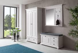 garderobenpaneel mit sitzbank garderobe 2 teilig bank u0026 spiegelpaneel leona in astfichte massiv