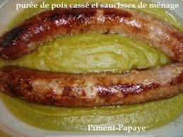 cuisiner des pois cass puree de pois casses et saucisses de menage au thermomix piment papaye