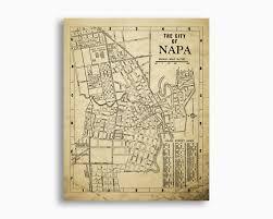 napa california map vintage 1938 design napa wall art napa