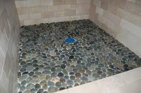 bathroom white pebble tile pebble floor tile sliced pebble tile
