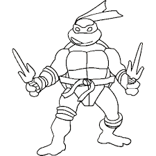 ninja turtle coloring page with regard to motivate in coloring