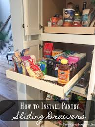 cabinet pull out shelves kitchen pantry storage installing sliding shelves in a pantry southern hospitality