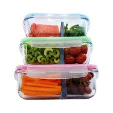 Food Storage Container Sets - food storage containers with locking lids glass 2 compartment meal
