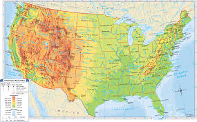 Atlas Map Of Usa States by United States Elevation Map Shaded Relief Maps Of The United
