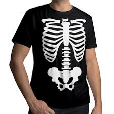 Funny Halloween T Shirt Rib Cage Pelvic Body Skeleton Funny Cool Halloween Mens Unisex