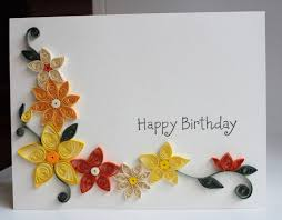 How To Make Easy Paper Flowers For Cards - the 25 best quilling birthday cards ideas on pinterest quilling