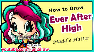 fun2draw thanksgiving how to draw ever after high maddie hatter learn to draw people