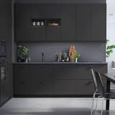 idee cuisine design cuisine ikea avec cuisine noir mat ikea photos de design d int