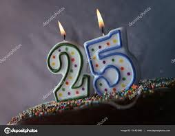 birthday cake with burning candles u2014 stock photo belchonock